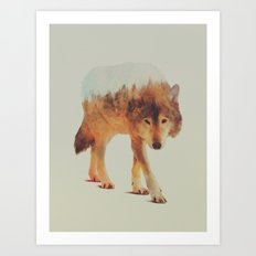 Wolf In The Woods #2 Art Print