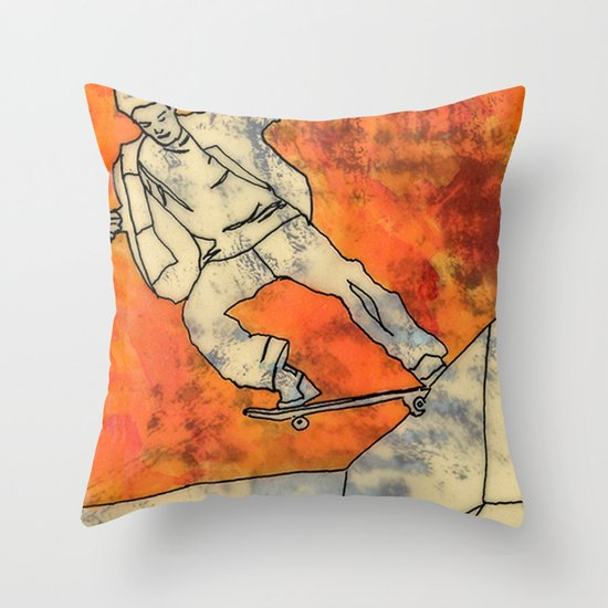 BackSide Tail. Throw Pillow