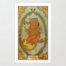 Muroidea Rat Tarot- The World Art Print
