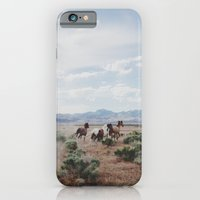 horse iPhone & iPod Cases featuring Running Horses by Kevin Russ