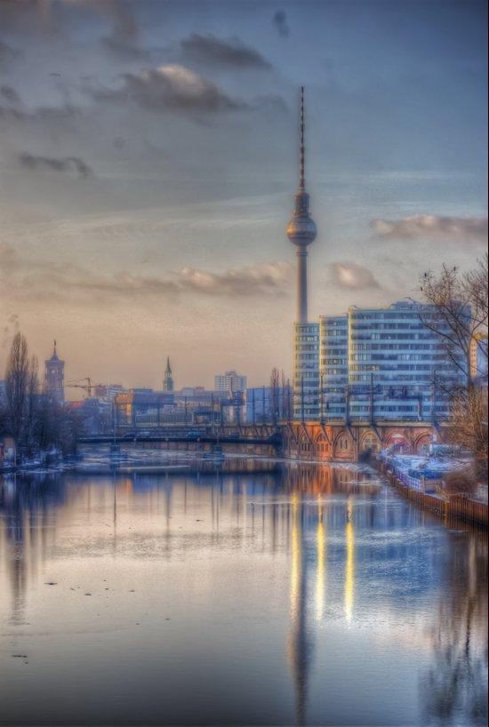 TV tower Berlin Art Print