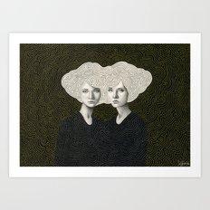 Orla and Olinda Art Print