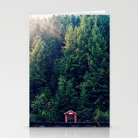 Red In Woods Stationery Cards