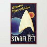 Star Trek: Join Starflee… Canvas Print
