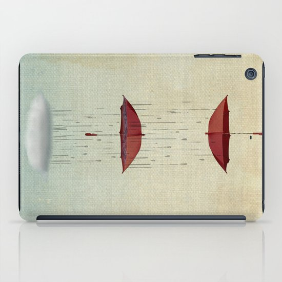 the umbrella runneth over and over iPad Case