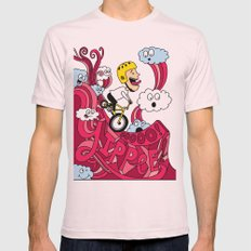 Yipppeee! Mens Fitted Tee Light Pink SMALL