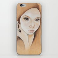 Self Portrait on Wood iPhone & iPod Skin