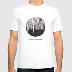 You can't see the forest for the trees Mens Fitted Tee White SMALL