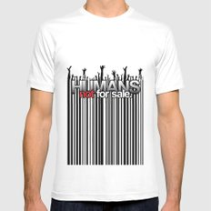 Humans Not For Sale Mens Fitted Tee SMALL White