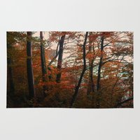 Autumn in the woods 3 Rug
