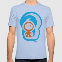 Spaceman 01 Mens Fitted Tee Athletic Blue SMALL
