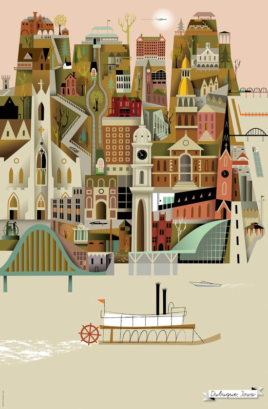 Dubuque Art Print