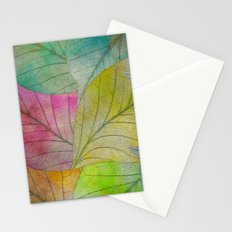 Pattern of Colorful Leaves Stationery Cards