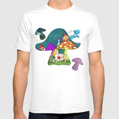 alice #2 White SMALL Mens Fitted Tee