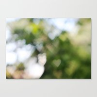 Canvas Print featuring Bokeh Hearts by Andrea