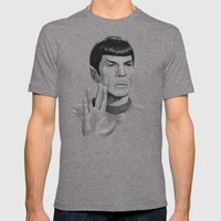 Spock Portrait Star Trek Mens Fitted Tee Tri-Grey SMALL