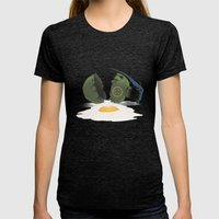 Eggsplosion Womens Fitted Tee Tri-Black SMALL