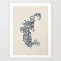 'Inheritance' (4 of 6). Original ink drawings re-coloured in Photoshop. (Other colourways available) Art Print