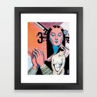 Fantasme Numérique Framed Art Print