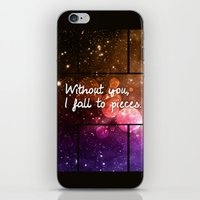 Without you I fall to pieces iPhone & iPod Skin
