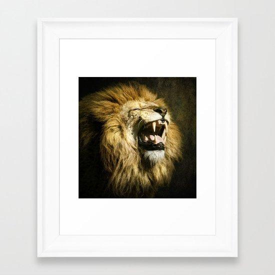 The Lion's Roar Framed Art Print