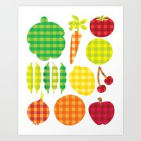Gingham Goods Art Print