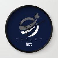 Thrust Wall Clock