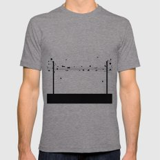 Digital Cords Mens Fitted Tee Tri-Grey SMALL