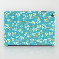 Floral mix blue white iPad Case