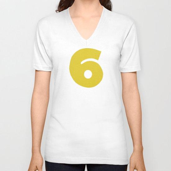 Number 6 V-neck T-shirt