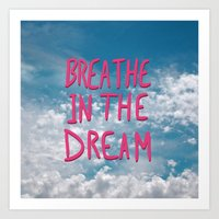 Breathe in the Dream...(pink) Art Print