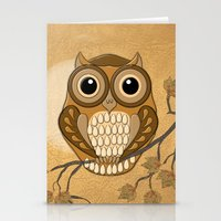 Moon Owl Stationery Cards