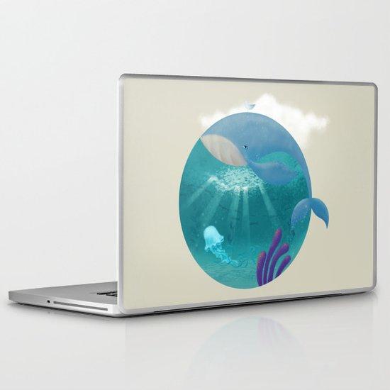 Whale & Jellyfish Laptop & iPad Skin