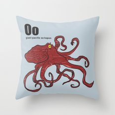 giant pacific octopus Throw Pillow