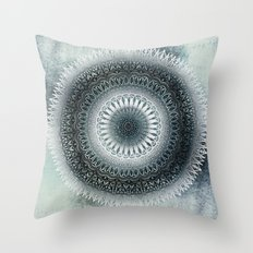 WINTER LEAVES MANDALA Throw Pillow