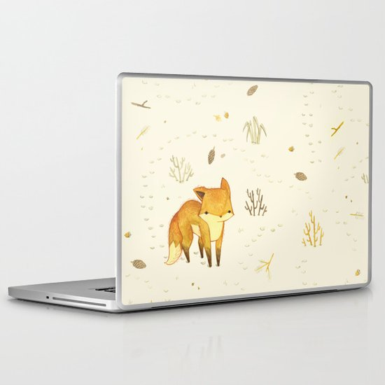 Lonely Winter Fox Laptop & iPad Skin