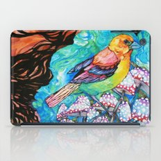 birds and mushrooms iPad Case