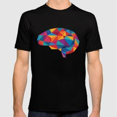 Brain SMALL Black Mens Fitted Tee