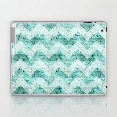 Teal Wood Chevron  Laptop & iPad Skin
