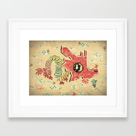 My Childhood Dragon Playground Framed Art Print