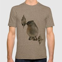 Grey Birdy Mens Fitted Tee Tri-Coffee SMALL