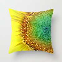 Sunflower From Seed Throw Pillow