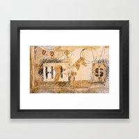 HI dollar Framed Art Print