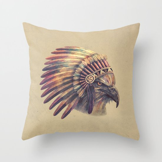 Eagle Chief Throw Pillow