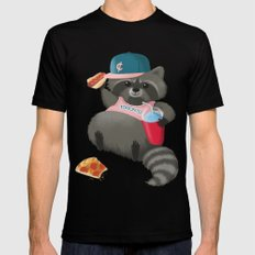 Rad Raccoon Mens Fitted Tee Black SMALL