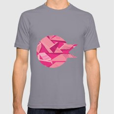 Pink Pattern Mens Fitted Tee Slate SMALL
