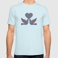 Butterfly Garden Mens Fitted Tee Light Blue SMALL