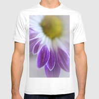Daisy Leaf Macro Mens Fitted Tee White SMALL