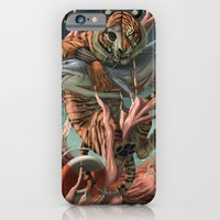 iPhone Cases featuring Tiger Shark by machinedeer