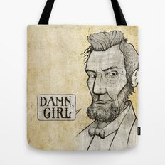 Damn, Lincoln Tote Bag